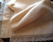 cream felted wool material wrap shawl wall hanging
