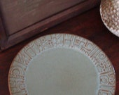 Frankoma woodland brown\/green pottery plate