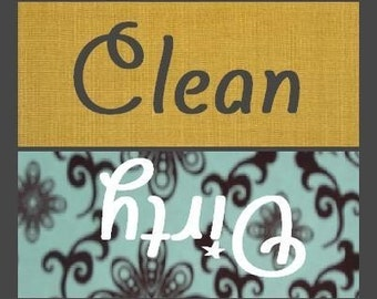 Mint Blue and Gold Clean/Dirty Dishwasher Magnet