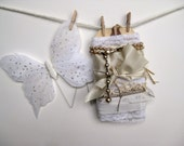 Vintage Crafting Inspiration Kit in White and Cream