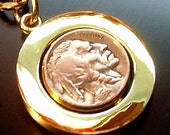 Heads or Tails Vintage Buffalo Nickel Key Chain