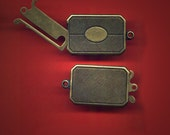 Vintage Antique Brass Box Clasp 34X19MM  AR3