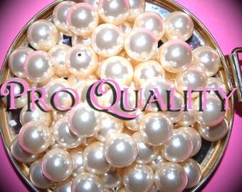Vintage 18 Creamy Acrylic Pearls 12MM K2L