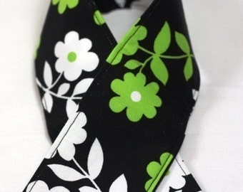 DSLR--Camera Strap Cover - DSLR-or SLR- Kiwi Flowers on Black Sleeve for your Camera Strap
