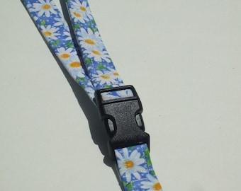 Lanyard - ID Holder / Packed Daisy-- Blue