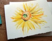 Sunflower. Hand Drawn Notecard
