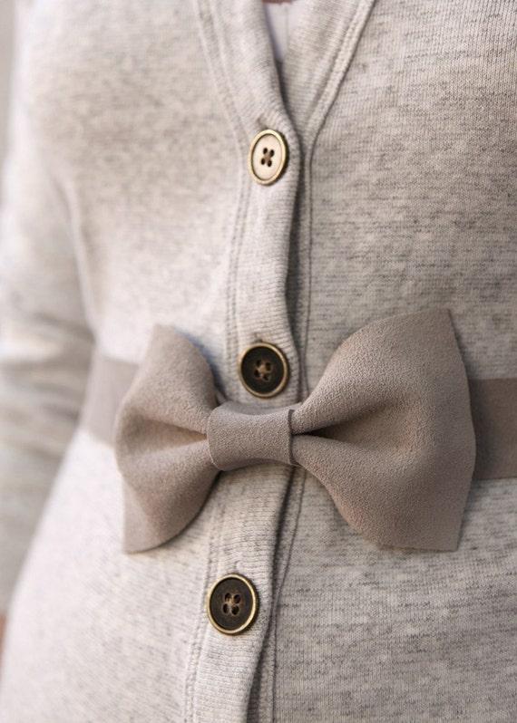 Gray Bow Belt