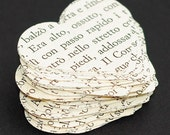 Italian Paper Hearts- Italian heart confetti, wedding decor, party decorations, vintage craft supplies