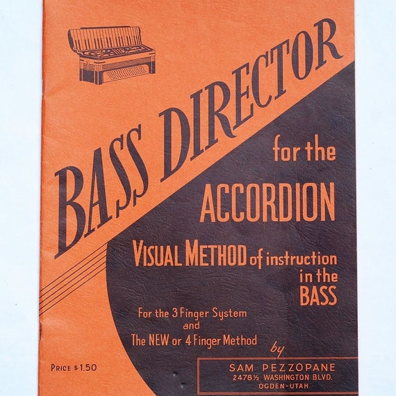 vintage sheet music-  accordion instuction book