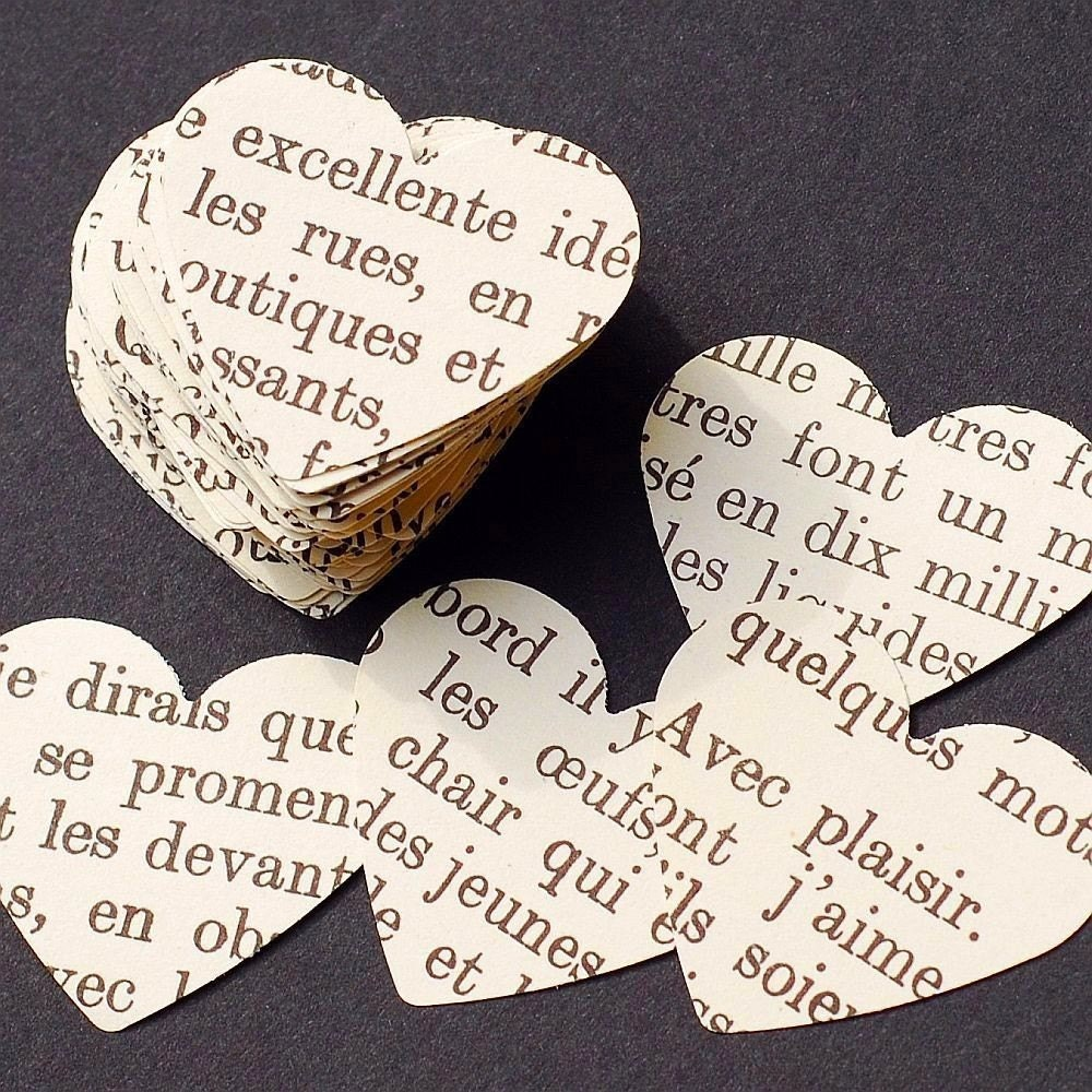 Vintage craft supplies 100 french heart punches for Arts and crafts ideas for couples