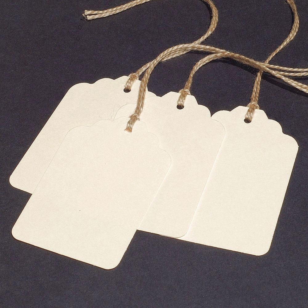 Blank Gift Tags 25 DIY wedding favor tags by TanithsOddsAndEnds