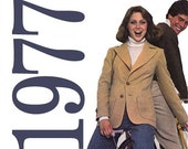 1970s Jacket Vintage Pattern - B38 - Simplicity 7827 - Uncut, Factory Folds - Women's Blazer Sewing Pattern