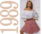 80s Christie Brinkley Peasant Skirt Vintage Sewing Pattern - Multisize - Simplicity 9168 - Uncut, FF