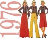 70s Wrap Skirt Shirt Pants Vintage Pattern 32B Simplicity 7798 UNCUT FF