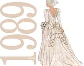 80s Bridal Gown Vintage Pattern - 40-42 Bust -  Simplicity 9050 - Uncut, Factory Folds