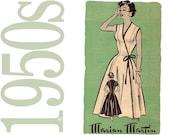 50s Wrap Dress Vintage Pattern - B 36 - Marian Martin 9019