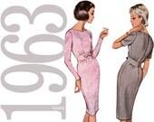 60s Dress Vintage Pattern - B32 - Advance 3338 - Uncut, Factory Folds