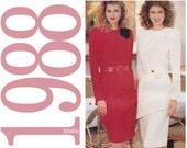 80s Two Piece Dress Vintage Pattern - Size 14, 16, 18, 20 - Butterick 125 - Uncut, Factory Folds