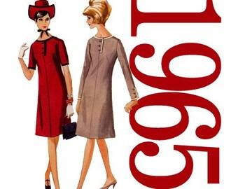 60s Dress Vintage Sewing Pattern 31 Bust McCalls 8068