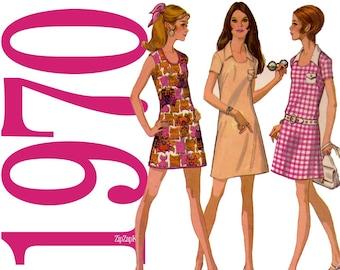 70s Dress Vintage Sewing Pattern - Collared Dress Pattern - McCalls 2351