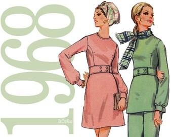 60s Boutique Dress Vintage Pattern  - 32 Bust Sewing Pattern - Butterick 5610