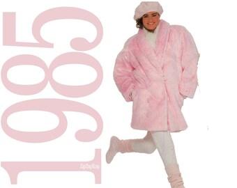 80s Yeti Coat Vintage Pattern b40 b42 Simplicity 9210 UNCUT FF
