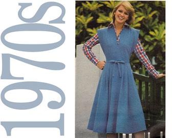 1970s Vintage Pattern - Misses Jumper - Sandwich Board Jumper Sewing Pattern - Size Petite - Butterick 5316