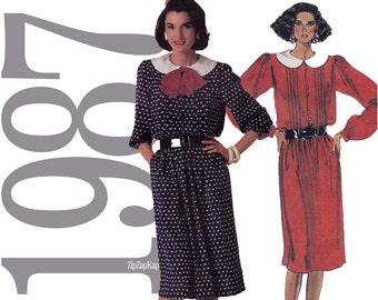 1980s Dress Vintage Sewing Pattern - 34 Bust - McCalls 3234 - Uncut FF