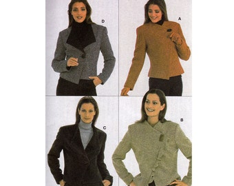 Asymmetric Jacket Sewing Pattern - Size 10 12 14 18 20 - Burda 8592 -  UNCUT FF