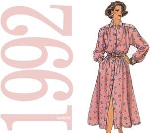Blouson Dress Sewing Pattern - Size 8, 10, 12 -  Butterick 6264 - Uncut, Factory folds