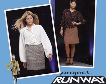 Project Runway Separates Sewing Pattern - Size 4 to Size 12 -  Simplicity 2807 - Uncut, Factory Folds - Skirt Pattern - Blouse Pattern