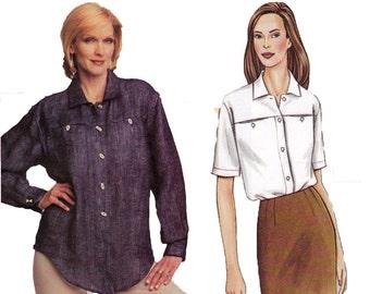 Sandra Betzina Shirt Pattern - B32. B34, B36 - Vogue 7636 - Uncut, Factory Folds