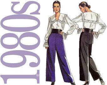 80s Separates Vintage Pattern - B31 to B40 - New Look 6165 - Uncut, Factory Folds