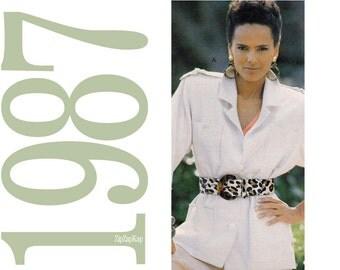 80s Belafonte Harper Jacket Vintage Pattern - B32 - McCalls 3060 - Uncut, Factory Folds
