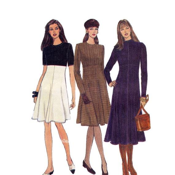 Easy Dress Sewing Pattern B36 B38 B40 Vogue 9199 Uncut FF