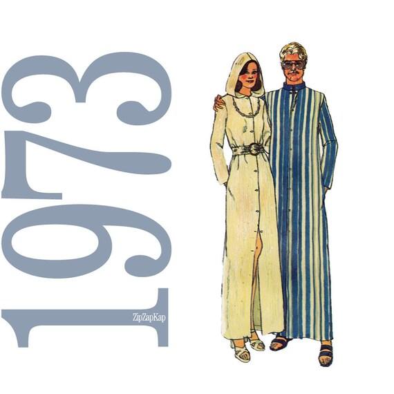 70s Hooded Caftan Vintage Pattern B36 Simplicity 6060 UNCUT