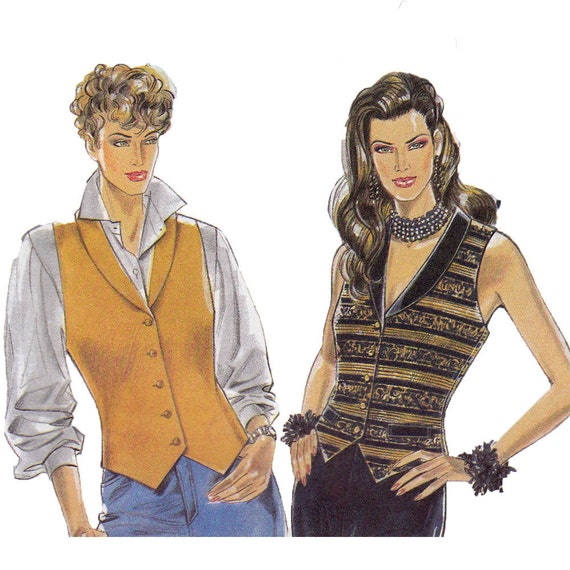 Easy Vest Sewing Pattern Multisize New Look 6133 UNCUT FF