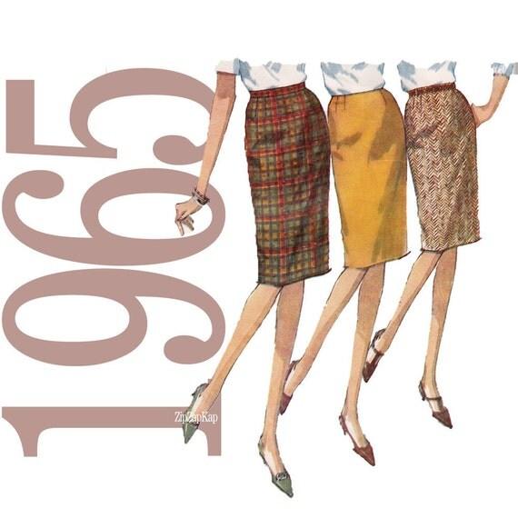 60s Skirt Vintage Pattern - 28 Waist - Simplicity 6137