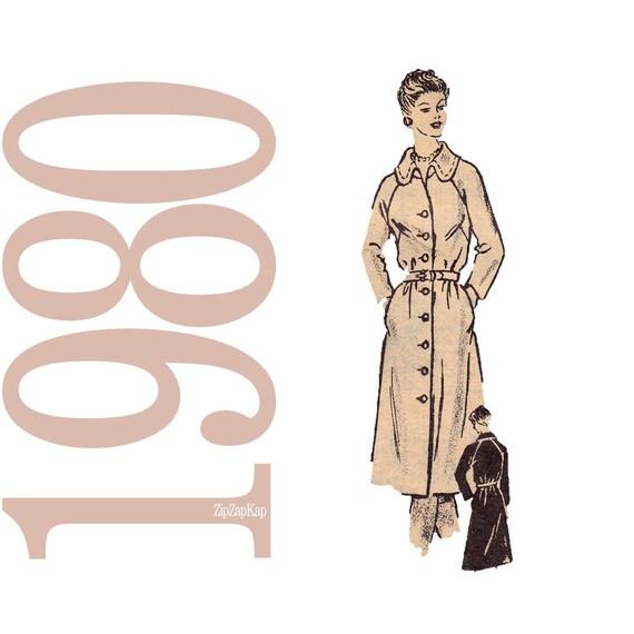 80s Shirt Dress Vintage Pattern B 38 Anne Adams 4545 UNCUT FF