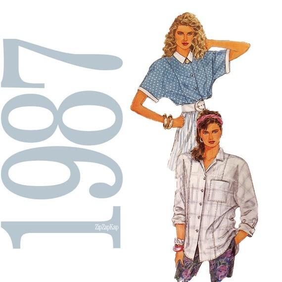 80s Blouses Vintage Pattern - Size 16 18 20 - McCalls 2897 - UNCUT Factory Folds