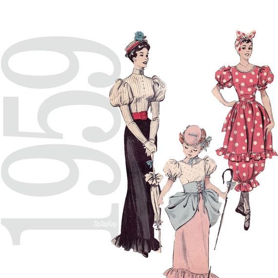 Gay Nineties, Bathing Suits and Bo-Peep Vintage Pattern - B32 - Butterick 6342