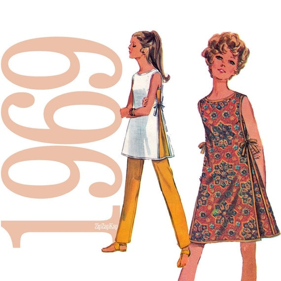 60s Dress Vintage Pattern - B 36 - Simplicity 8132 - Uncut