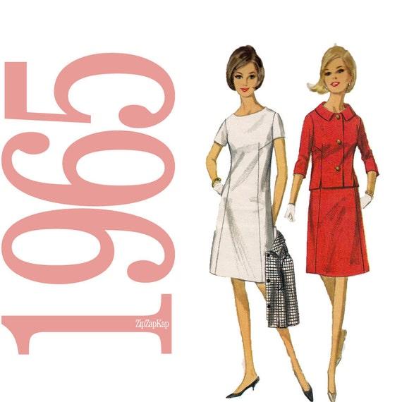 60s Sheath Dress Vintage Pattern - 34 Bust Sewing Pattern - Butterick 4059
