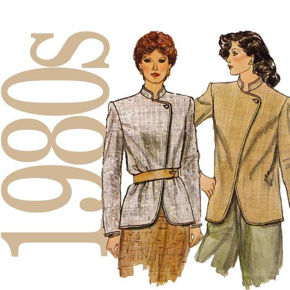 80s Jacket Vintage Pattern - B32 - Vogue 8060