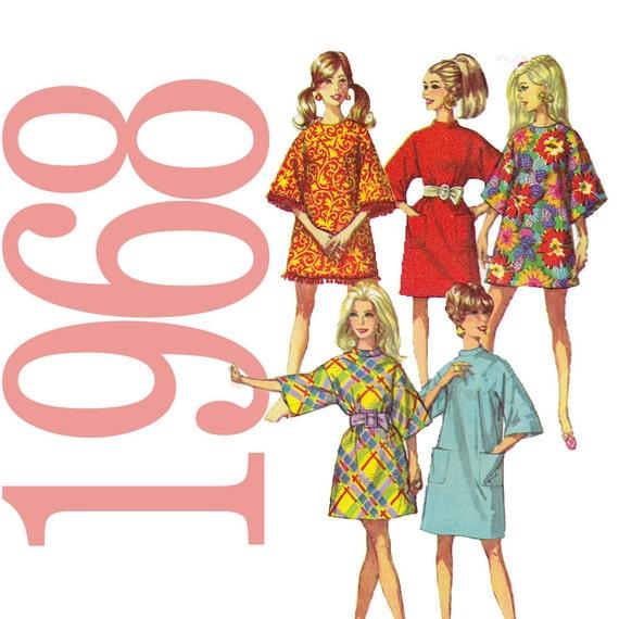 60s Dress Sewing Pattern - Plus Size Vintage Pattern - Simplicity 7674