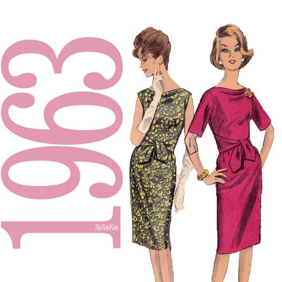1960s Sash Dress Vintage Pattern - B34 - Vogue 5782 - Uncut, Factory Folds