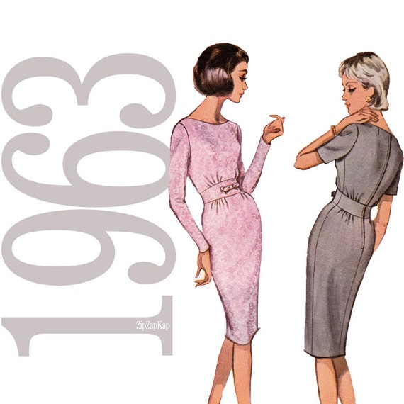 60s Dress Vintage Pattern - B32 - Advance 3338 - Uncut, Factory Folds