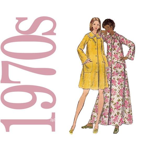 70s Robe Vintage Pattern - B31 - Butterick 5743 - Uncut, Factory Folds
