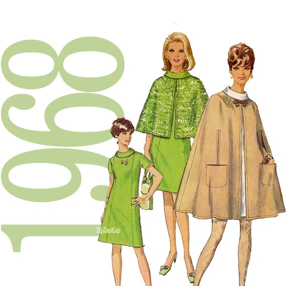60s  Dress Vintage Pattern -  B38 - Simplicity 7544