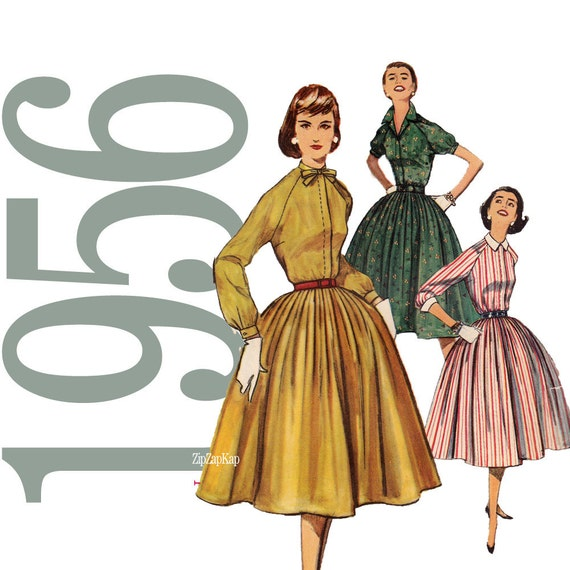 50s Dress Vintage Pattern - B36 - Simplicity 1683 - Uncut